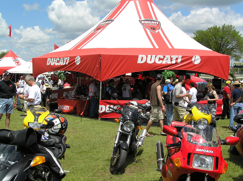 Just part of the crowd gathered for a wonderful Ducati weekend.