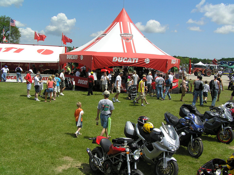 The Ducati display gained alot of interest. Even Suzuki representatives were caught peeking at what was going on.