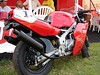 Built from 2 Honda 70cc engines, now a 90 degree twin.  Originally a YSR 50 it's now a pretty good Ducati replica.