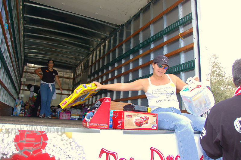 Drop off the toys at the park - they literally fill giant trucks with them