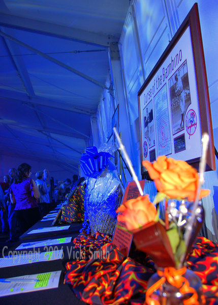 A silent auction is the featured event of the evening