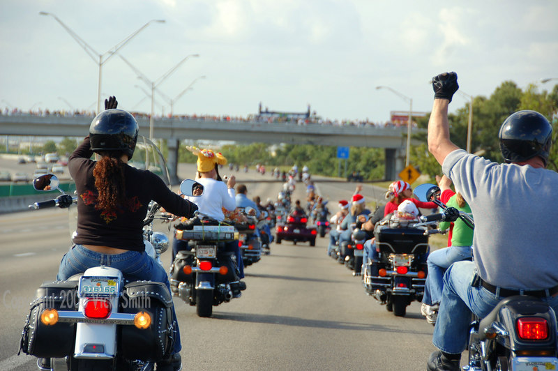 I-95 is blocked off for hours, people line the bridges and edges of the roads. Waving and smiling is the order of the day