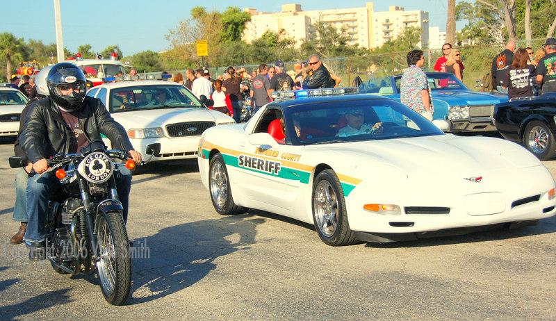 Broward County Corvette Squad car