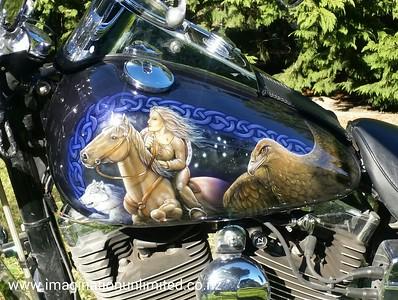 Harley Horse & Hawk