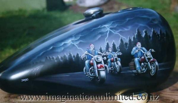 skull riders bike