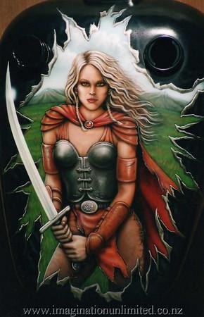 warrior woman bike