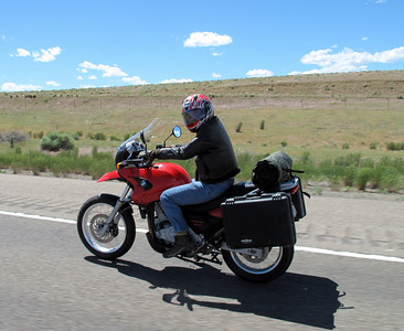 Francis decided to take his smaller GS on the ride.