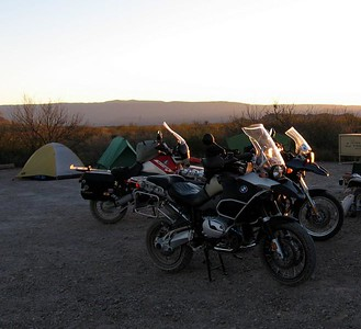 Our Big Bend campsite.
