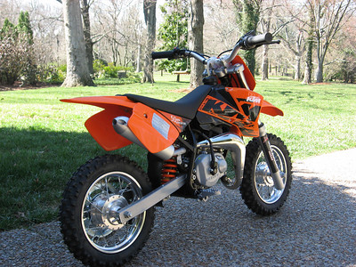Kyle's new ktm 50 mini adventure