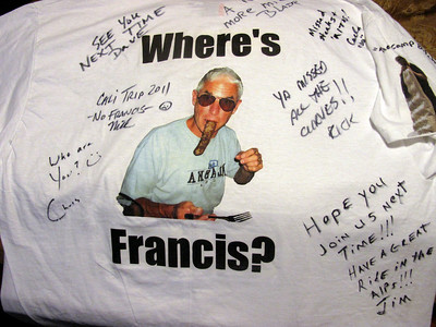 2011 Pacific Coast Tour. No Francis.