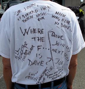2010 Canyon tour T-shirt for Dave