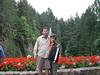 Heidi & I at Butchart gardans BC.