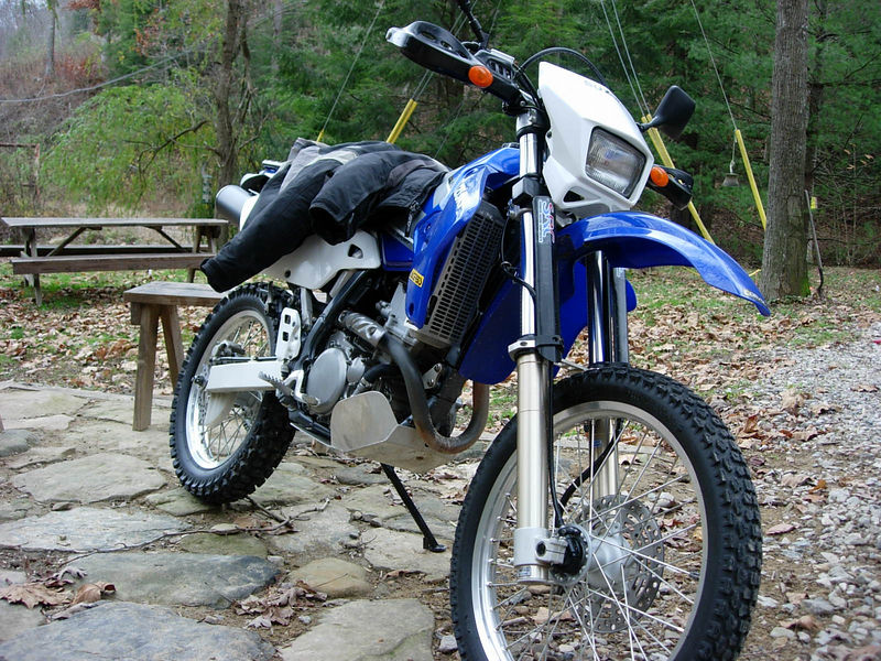 2002 Suzuki DRZ400s... at home on Indian Creek
