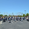 Bikes ready to go. In Applebees parking lot