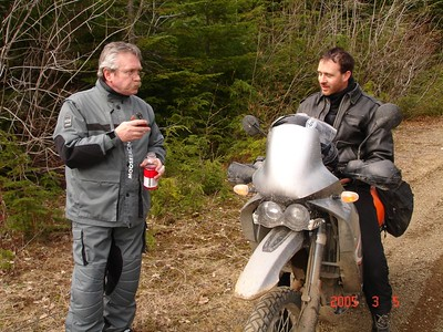 Me and Justin, taking a little breakie. Olympic Range WA.
