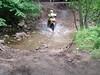 Crossing the creek - no problem.