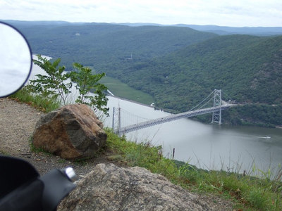 On the way down, Bear mountain Bridge, Hudson river.