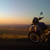 sunset on the new bike!