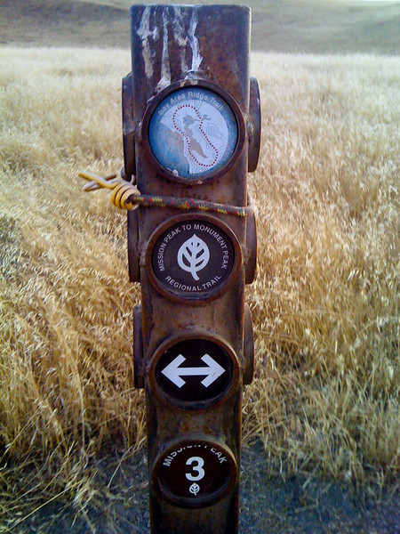 the signpost at the junction. it's supposedly part of some trail!