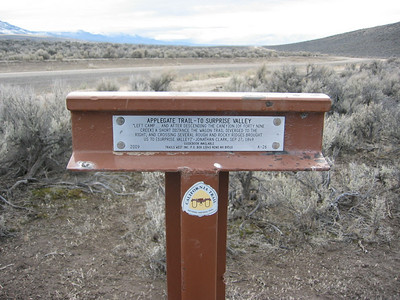 I continued east on Hwy 299 beyond the stateline of Nevada, where the pavement ends the the dirt begins. I came across this historical marker.