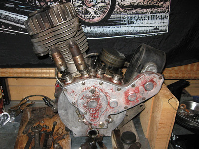 1916 Indian Engine Disassembly
