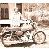 My first bike, back in 1970. It was a 1969 H1, purchased from the local newspaper editor's son, Theo Woods, for $600.