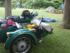 Setting up camp at Willville Motorycycle Camp.