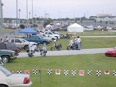 Ring-Ding was my transportation at Daytona International Speedway and around Daytona Beach during Biketoberfest 2003.