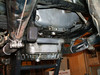underside rear tranny - a popular place to check for oil from engine -