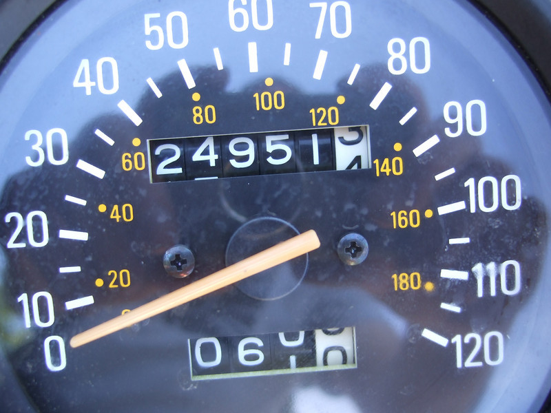Mileage as of May 24th, 2008.