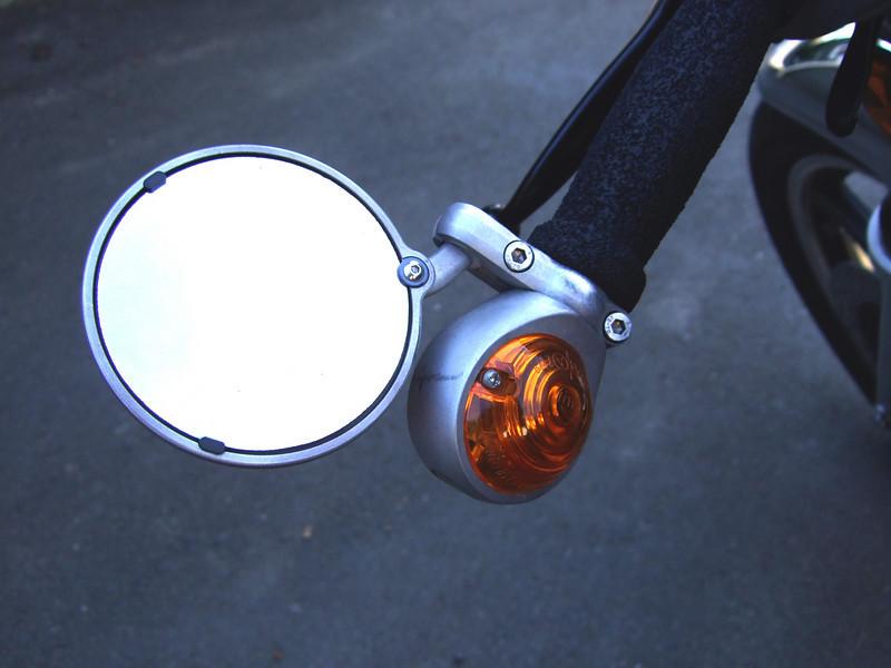 CRG Hindsight mirrors and Hella bar end turn signals.