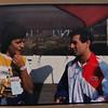 Birgit Soyka with Tony Mang, c.1986 Hockenheim?
