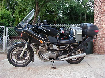 '82 Suzuki GS1100G - Loaded, and ready to head out on a l-o-n-g ride.