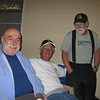 Zane, Ken and Ike celebrating the start of the event on Wednesday night.