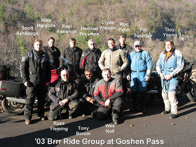 2003 Brrr Ride - Otter Creek Campground on the BRP