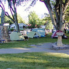 Paonia City Park camping. I'm the yellow REI Tent with the cheapie chair, lusting after the Kermit Chair of my compadre.