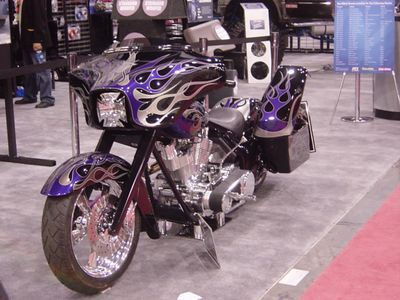 Front View of Vido, and Sound System Bike