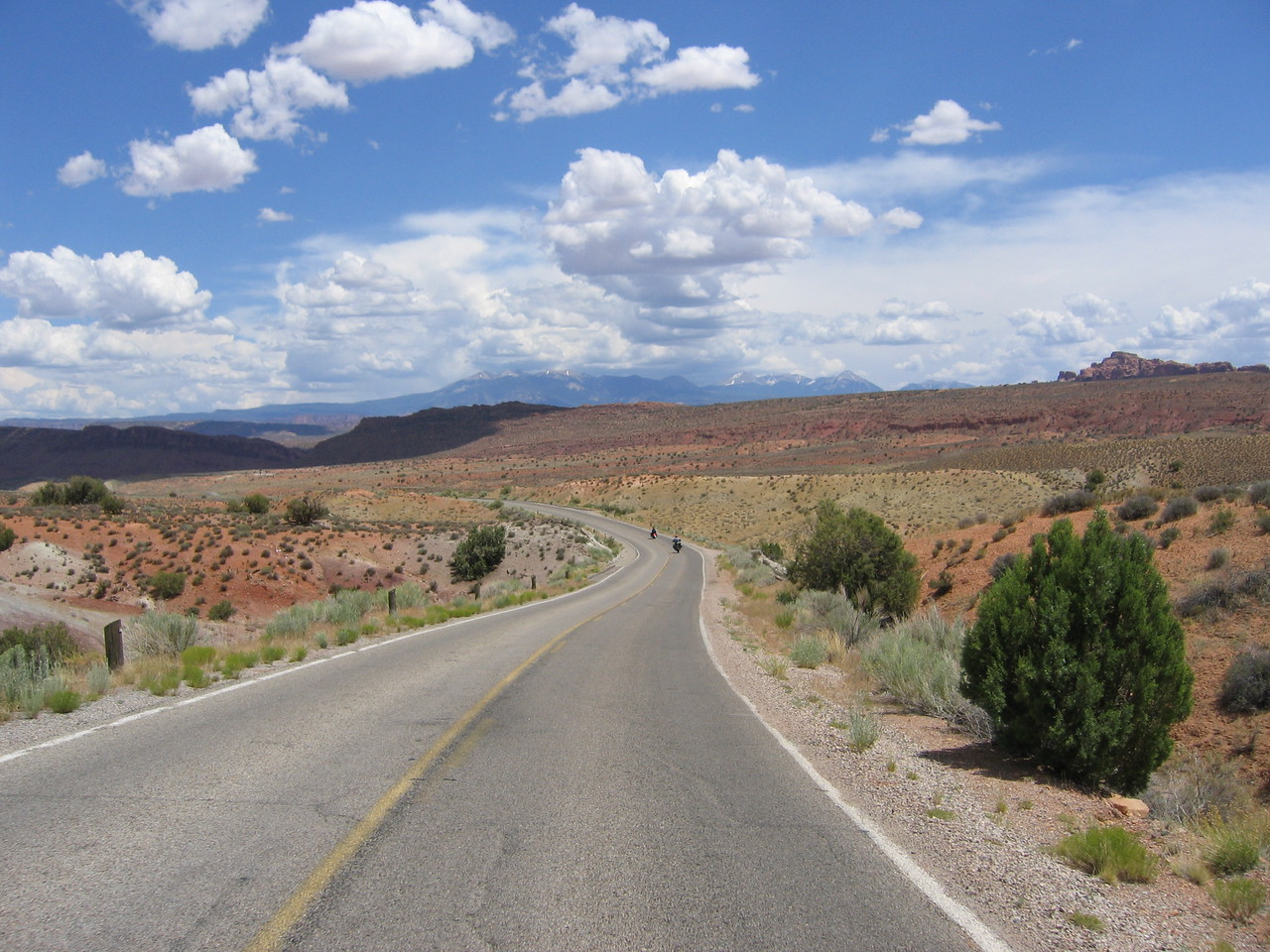 La Sal mountains from Arches NP