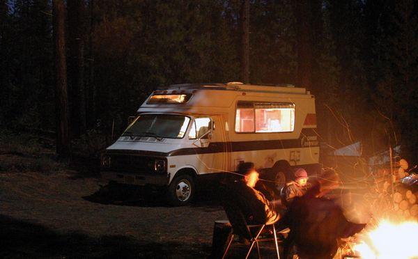 """<font size=""""+3"""">Another fire at night shot.  Still no snow - but just wait a bit..."""