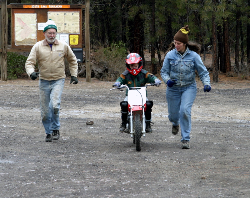 """<font size=""""+3"""">The next morning, Collin get's his first run at riding his new XR-70 all by his lonesome."""