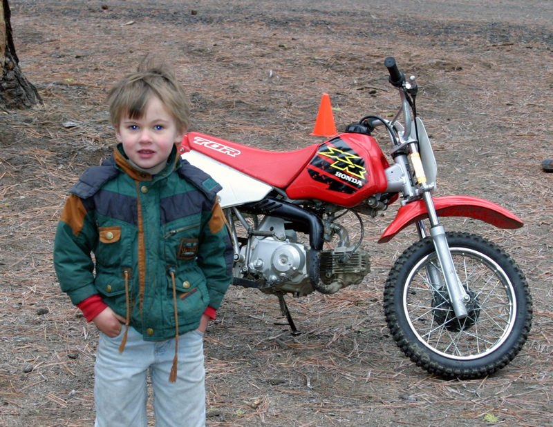 """<font size=""""+3"""">Collin in front of his brand new XR-70."""