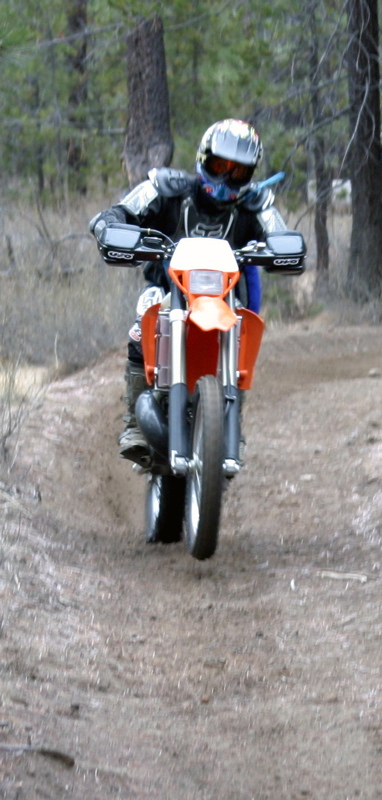 """<font size=""""+3"""">Gosh, we waited a LONG time for everyone else to catch up.  Turns out that Tom got a flat tire on the borrowed CR250F he was riding.  That slowed up the whole party except for Don and I.  We wait for no man or woman on the trail!"""