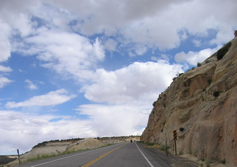 The road leading to Hell's Backbone overlook