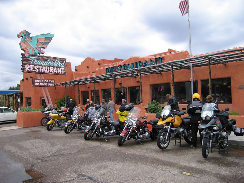 Our bikes at the Thunderbird