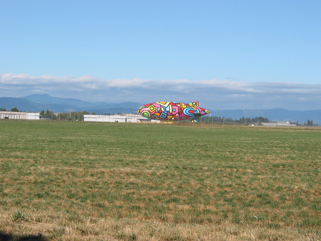 On the way out of town I saw an interesting blimp at the Hillsboro Airport.