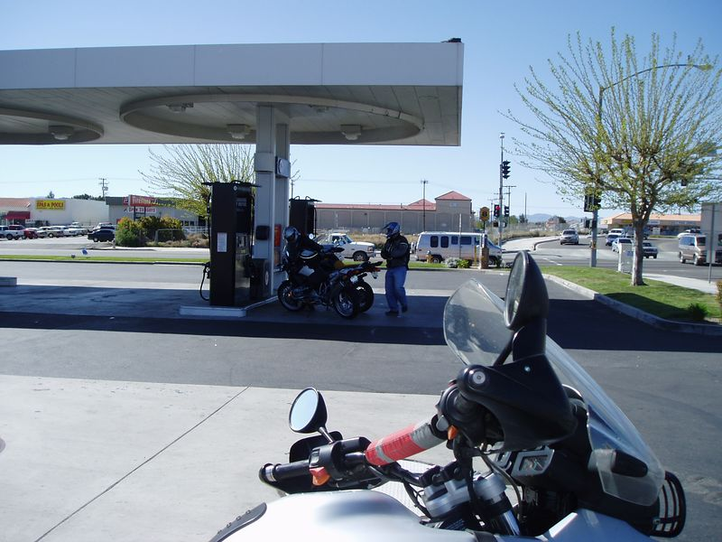 Gassing a bit at Victorville, Bear Mountain Road