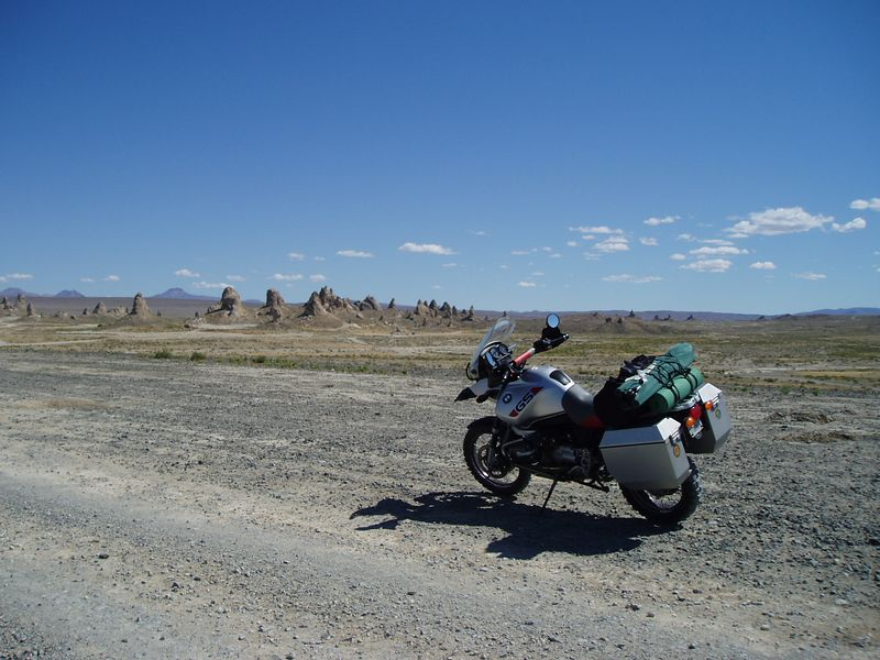 Moto-porn<br /> Those are the Pinnacles in the background.