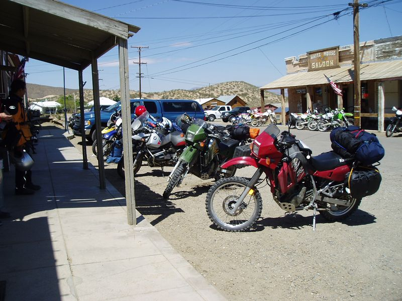 This is an old mining town that serves as a good stepping off point for OHV riders. Everybody is supposed to have a plated bike to be here. We had coffee and fresh banana cake with butter cream frosting. very good at the general store.