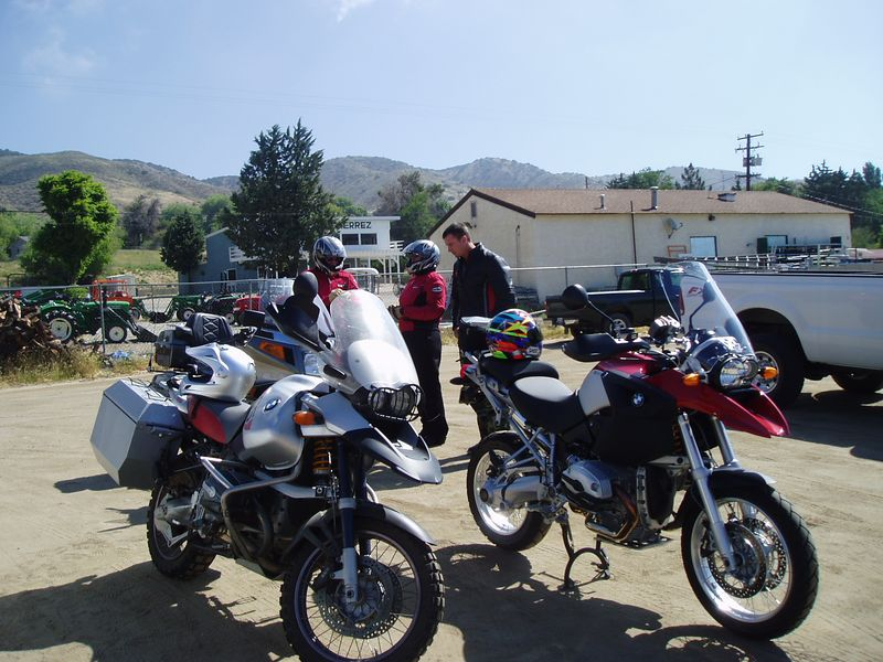Jacki, Paul and MIke check out the Voyager.<br /> <br /> Jacki and Paul headed for ACH while Mike and I wandered toward Lake Isabella. <br /> <br /> At this point I have about 125 miles in for the ride. There are many more miles to come.