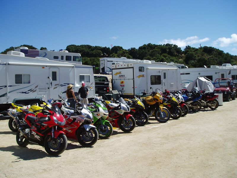 The compound. bikes by the jillions and RV's<br /> <br /> Nice little place. with the track right across the fence.
